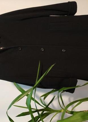 Черное базовое пальто шерсть/кашемир