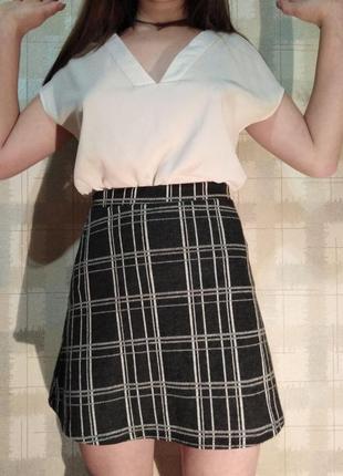 Милая и удобная юбка в клетку bershka