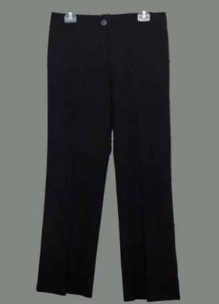 Классические черные брюки прямого кроя uk12-14
