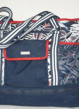 Seaside сумка пляжная шопер не промокаемая ручки через плечо отделение для обуви
