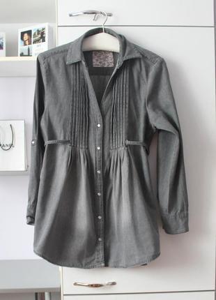 Джинсовая плотная рубашка от denim co