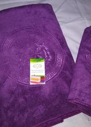 Комплект полотенец из микрофибры. * тигр * 2 шт1
