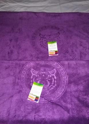 Комплект полотенец из микрофибры. * тигр * 2 шт2