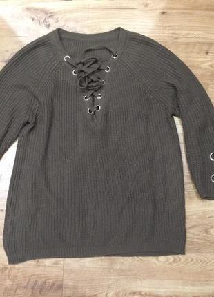 Кофта хакки шнуровка , люверсы 46-52 рр один размер