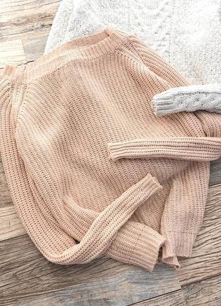 Персиковый свитер с напылением amisu