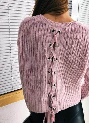 Нежный лавандовый оверсайз свитер fb sister
