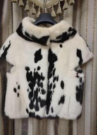 Норковая жилетка saga furs italia original