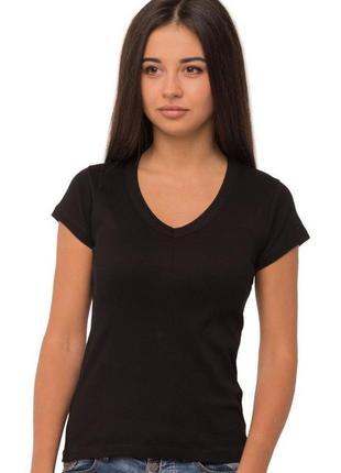 Черная женская футболка s-m