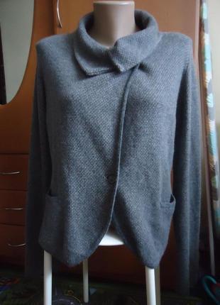 Фирменный кашемировый свитер max mara кардиган с карманами 100% кашемир