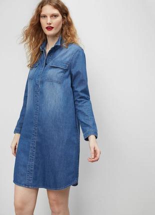 Манго виолетта, платье джинсовое, р.хл, пог 60