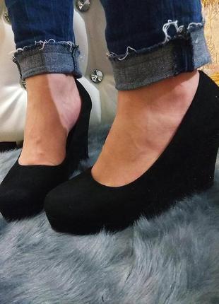24,3 см туфли на танкетке 10 см