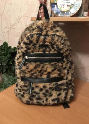 Леопардовый рюкзак topshop