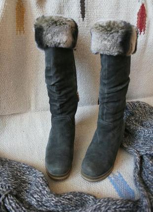 Шикарные сапоги натуральный мех зима miraton