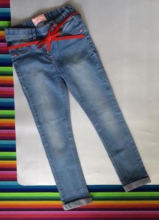 Джинсы стрейч штаны брюки next на девочку 6-7 лет цена 99грн