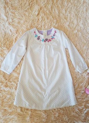 Шикарное платье туника вышиванка marks&spencer