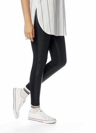 Кожаные штаны леггинсы