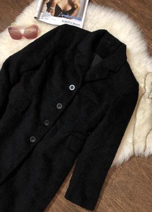 Итальянское пальто шубка из натуральной шерсти и альпаки