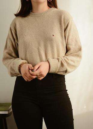 Шерстяной,винтажный свитер от tommy hilfiger ❤
