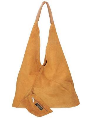 Замшевая коньячная сумка volma италия разные цвета
