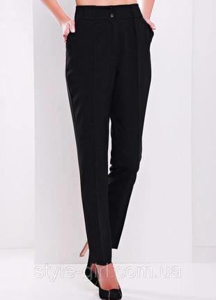 Идеальные черные теплые брюки со стрелками