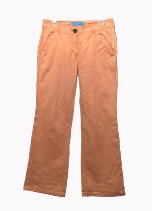 In parle de vous/ paris/светло-оранжевые/коралловые котоновые брюки широкие