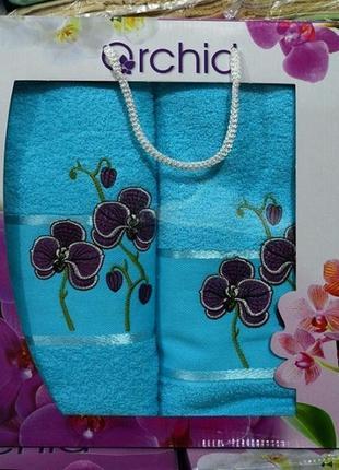 Набор полотенец gulcan орхидея 2шт1