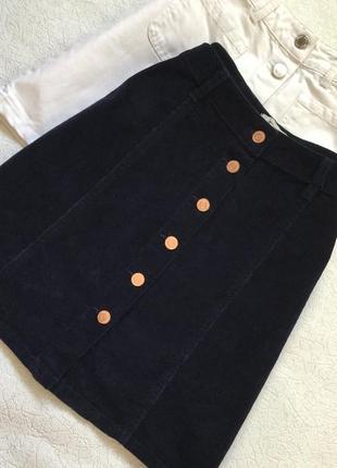Юбка вельветовая трапеция new look 10 размер