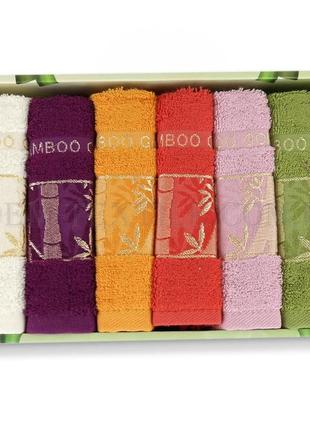 Набор кухонных полотенец philippus бамбук gold 6шт2