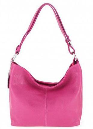Кожаная малиновая сумка lorella италия разные цвета