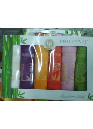 Набор кухонных полотенец philippus бамбук gold 6шт4