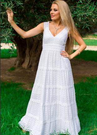 Платье, сарафан из хлопка indiano, fresh-cotton 633 f, м-хl