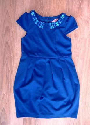 Нарядное платье с камнями на 3-4 года baker
