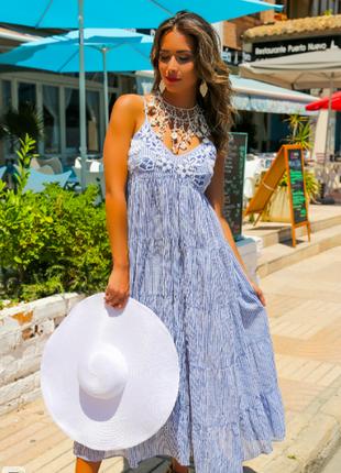 Сарафан, пляжное платье из хлопка indiano, anastasea 552 a