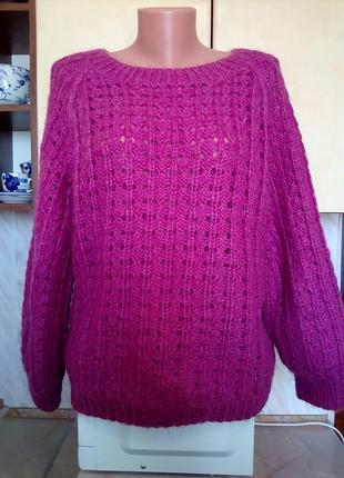 Теплый свитер 100 % шерсть ручной работы