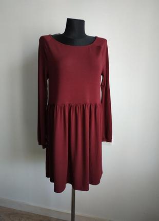 Бордовое платье vila clothes
