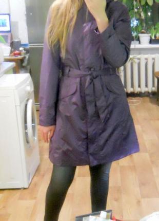 Стильный непромокаемый дождевик куртка плащ на весну/осень размер s