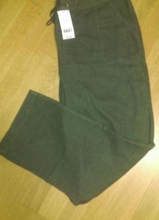 Актуальные льняные  брючки штаны с добавкой из вискозы