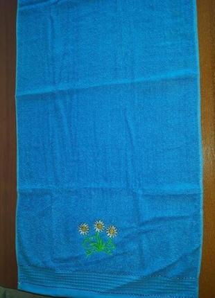 Махровое полотенце 46 х 100 синее2