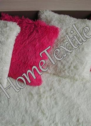 Наволочка травка 50х50, розовый фламинго