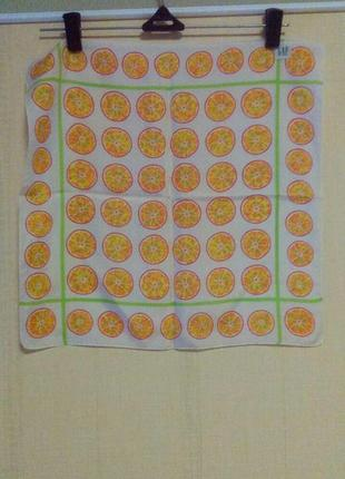 Шелковый платок в апельсин