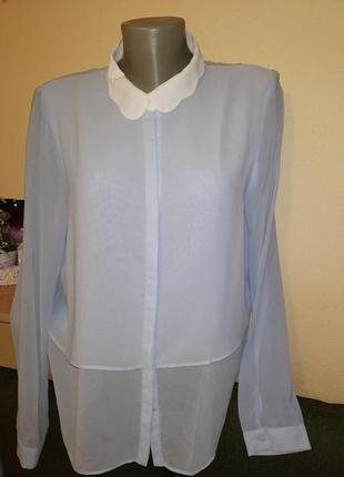 Zara блуза,голуба(ніжна)