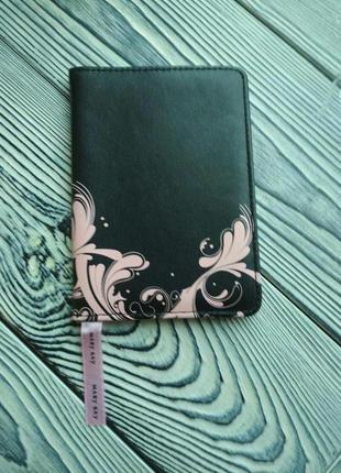 Обложка для паспорта, принт цветы mary kay, мери кей