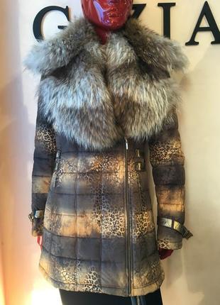 Тёплая куртка  с натуральным мехом