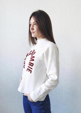 Женский свитшот abercrombie & fitch
