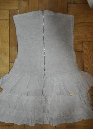 Сарафан платье лен льняное на лето не жаркое пышная юбка