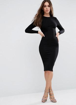 🌿 базовое, трикотажное миди платье от asos