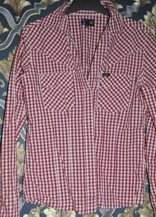 Рубашка ковбойская в клетку