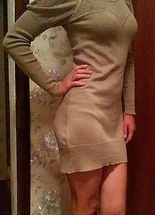 Актуальное тёплое платье-туника турция