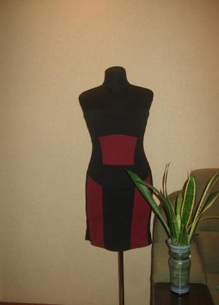 Трикотажное платье бюстье