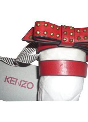 Браслет чокер из кожи kenzo